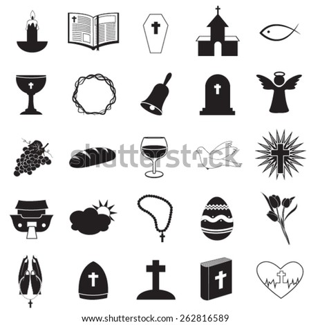 Christian Icons Collection - stock vector
