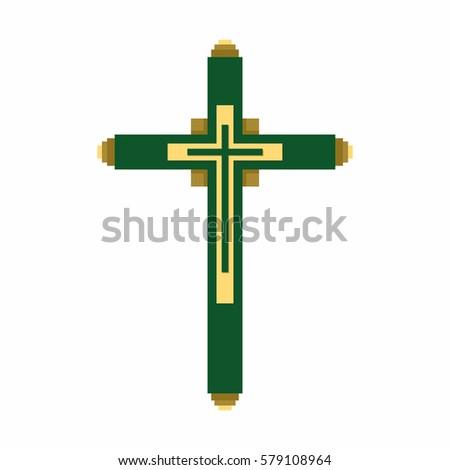 Christian Symbol Cross Lord Savior Jesus Stock Vector 579108964