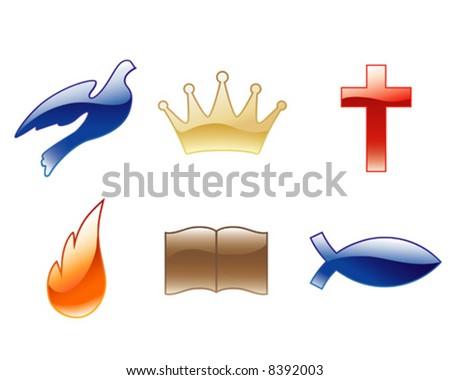 Christian vector icons - stock vector