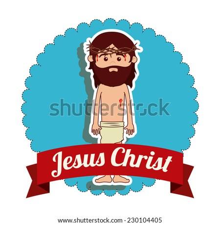 Christianity  design over white background, vector illustration - stock vector