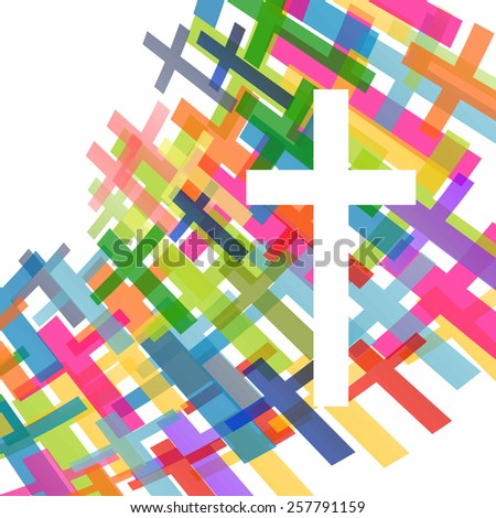 Christianity religion cross concept abstract background, vector illustration - stock vector