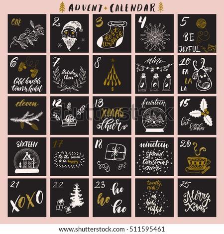 Advent calendar: Goldmiss design