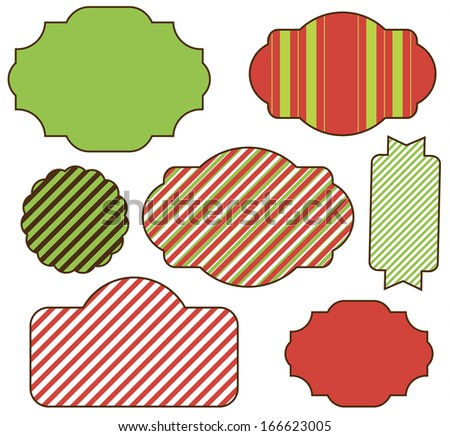 Christmas and Holidays Tag Set - stock vector
