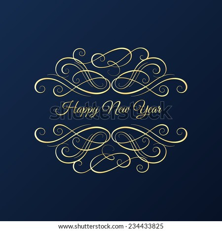 Christmas and New Year background, greeting card  - stock vector