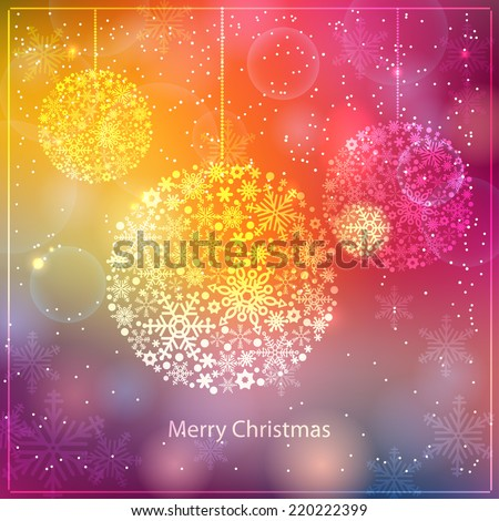Christmas and New Year background, vector illustration - stock vector