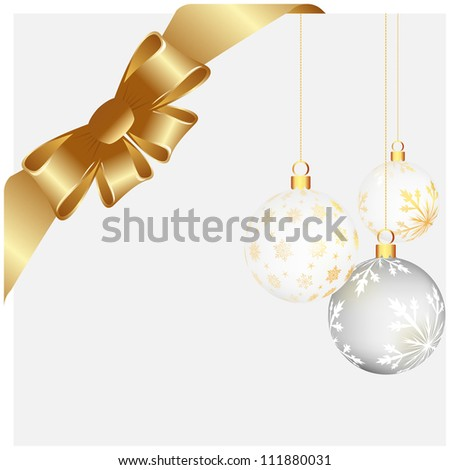 Christmas and New Year background. Vector illustration. EPS 10 with transparency. - stock vector
