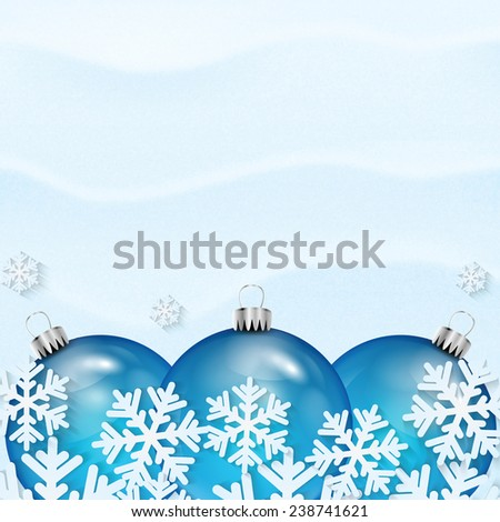 Christmas and New Year background with Christmas decorations  - stock vector