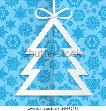 Christmas and New Year background with Christmas tree and snowflakes.Poster for New Year with Christmas decorations .Background for Christmas and New Year frame for your design - stock vector