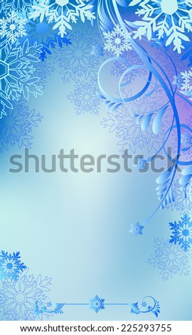 Christmas and New Year background with place for text  - stock vector
