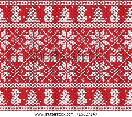 Christmas New Year Design Fair Isle Stock Vector 715627147 ...