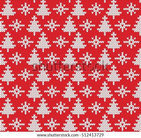 Christmas Fairisle Sweater Seamless Knitting Pattern Stock Vector ...