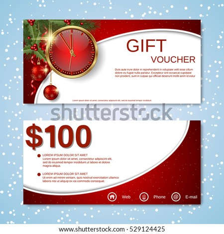 christmas voucher stock images royalty free images. Black Bedroom Furniture Sets. Home Design Ideas