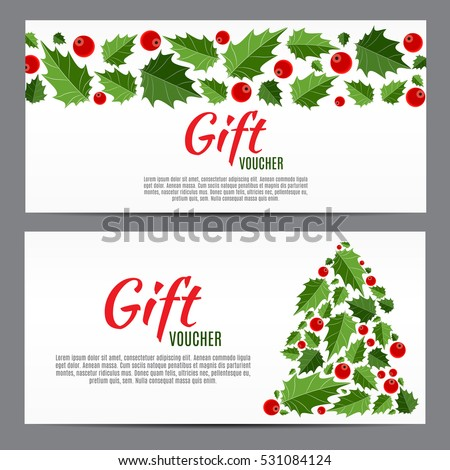 Christmas new year gift voucher discount stock vector 531084124 christmas and new year gift voucher discount coupon template vector illustration eps10 yadclub Choice Image