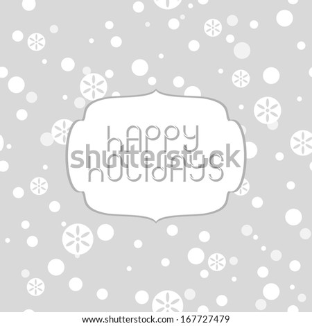Christmas and New year greeting card (vector version) - stock vector