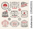 Christmas and New year labels - stock vector