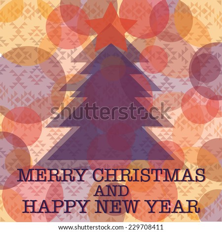 Christmas and New Year pattern on navajo style background  - stock vector