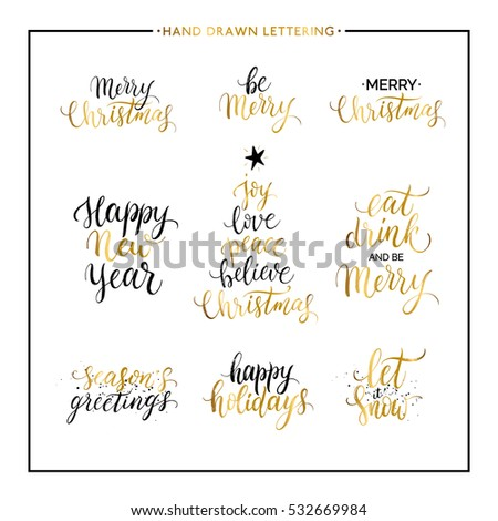 Christmas new year phrases quotes merry stock photo photo vector christmas and new year phrases and quotes merry christmas happy holidays seasons greetings m4hsunfo