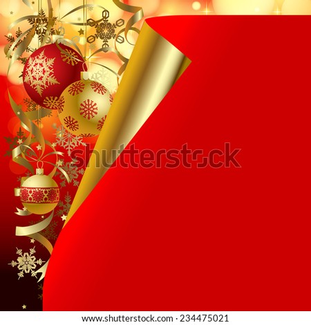 Christmas and New-Year's background and greeting card.  Vector illustration - stock vector