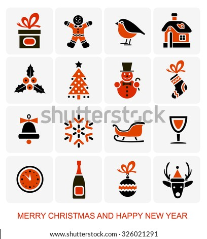 Christmas and New Year's Icons