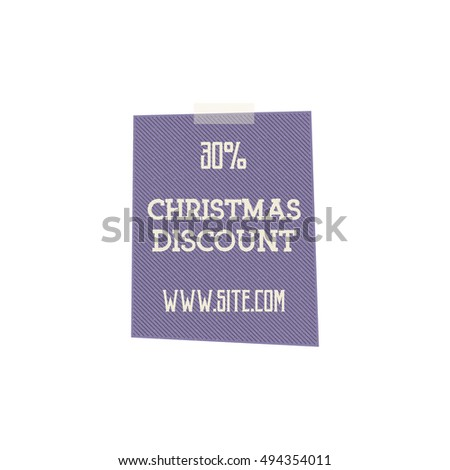 Christmas, and new year sale label, tag with a winter holiday symbols. Discount badge. Vector retro design.
