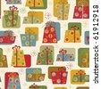 Christmas and New Year seamless pattern with gifts - stock vector