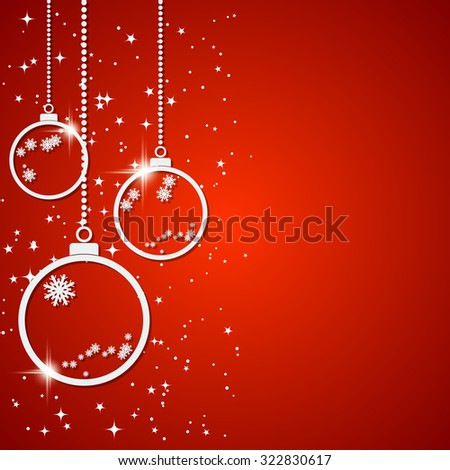 Christmas new year vector background white stock photo photo christmas and new year vector background with white paper balls stars and snowflakes greeting stopboris Choice Image