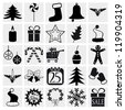 Christmas and Winter icons collection. vector - stock vector