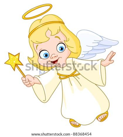 Christmas angel - stock vector