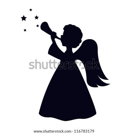 christmas angels silhouette angel silhouette stock images royalty free images 2290