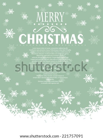 Christmas background - stock vector