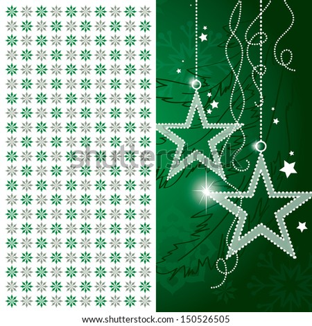 Christmas Background. Abstract Illustration. - stock vector