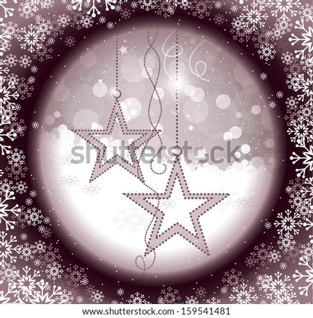 Christmas Background. Abstract Vector Illustration.