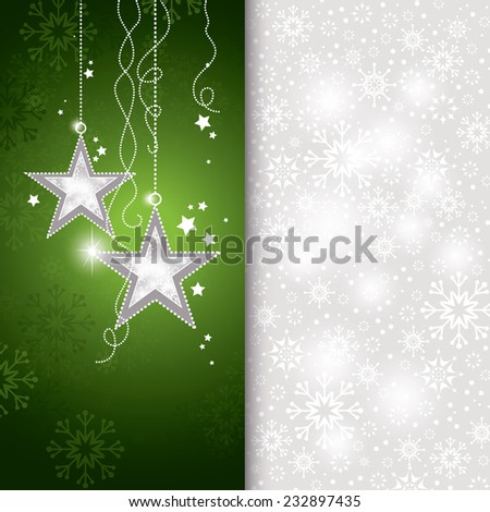 Christmas Background. Abstract Vector Illustration. - stock vector