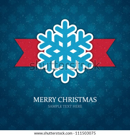 Christmas background and snowflakes vector illustration. - stock vector