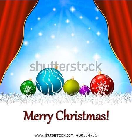 Christmas background. Christmas template vector illustration