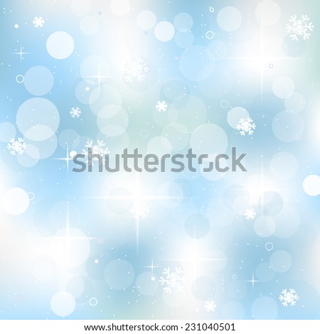 Christmas background for greeting card and happy holiday with christmas decoration/vector illustration - stock vector