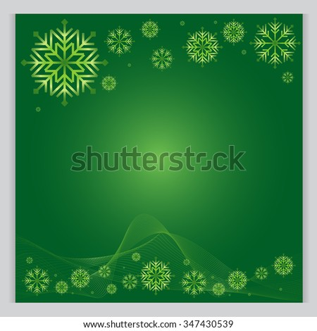 Christmas Background green  The cold weather season Vector Illustration - stock vector