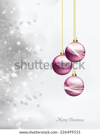 Christmas Background. Greeting Card. - stock vector