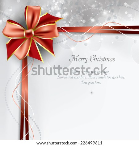 Christmas Background. Greeting Card.