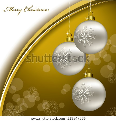 Christmas Background. Illustration in Eps10 Format. - stock vector