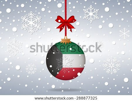Christmas background Kuwait - stock vector