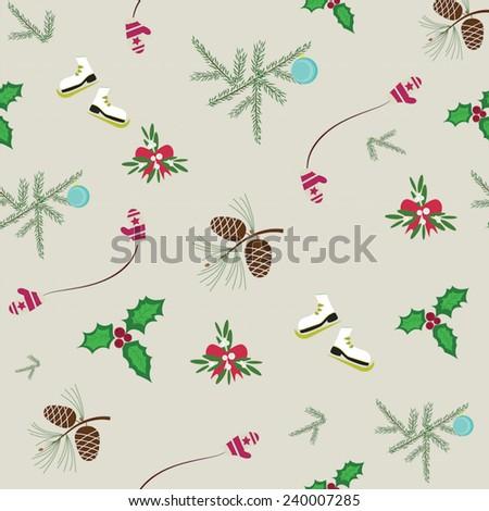Christmas background / Navidad patron  - stock vector