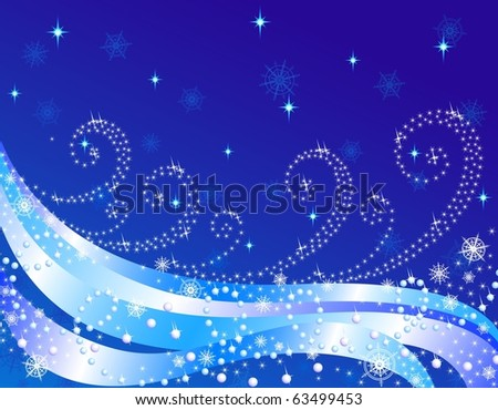 Christmas background, New Year's. Vector illustration. - stock vector