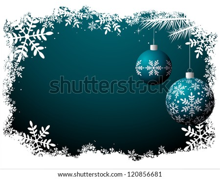 Christmas background - Night scene file - No transparency! - stock vector