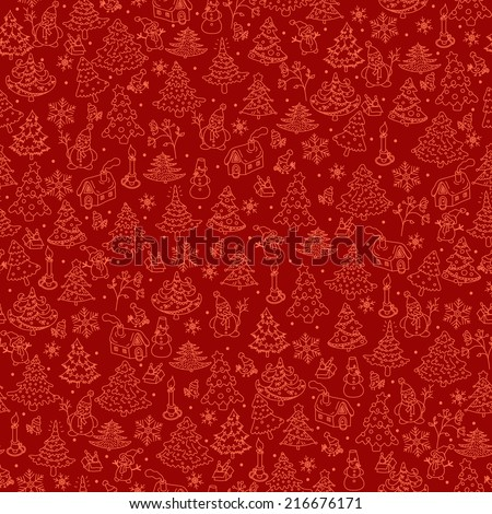 Christmas background seamless. - stock vector
