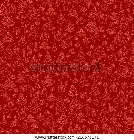 Christmas background seamless. - stock vector