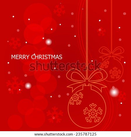 Christmas background , vector - stock vector
