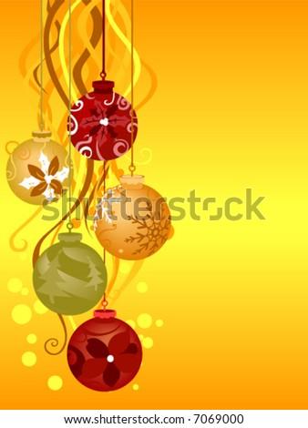 Christmas Background - Vector - stock vector