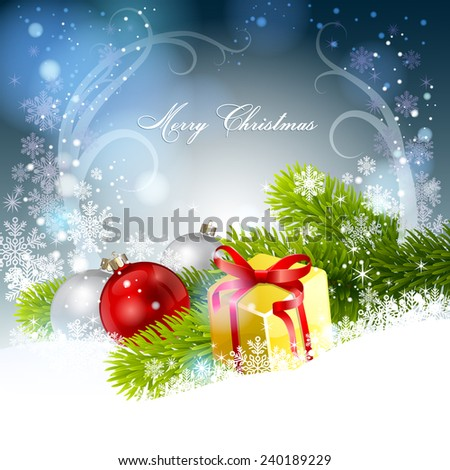 Christmas background. Vector  EPS 10. - stock vector
