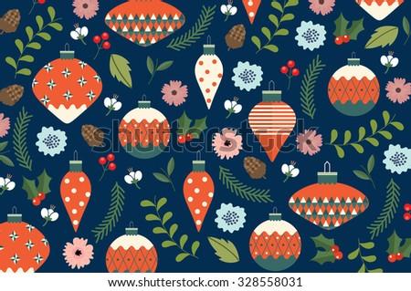 christmas background vector/illustration - stock vector
